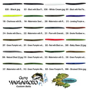 Gary Yamamoto Senko 6 Inch (9L-05) Stick Bait Worm Any 24 Colors Bulk Lot Lures
