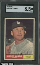 1961 Topps #300 Mickey Mantle New York Yankees HFO SGC 3.5 VG+