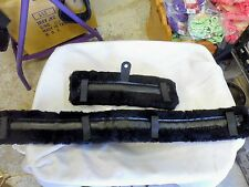 Pony Size Fleece Harness Saddle & Breast Collar Pads Set Amish Made! Black
