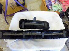 Miniature Horse Fleece Harness Saddle & Breast Collar Pads Set Amish Made! Black