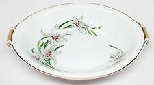 Narumi China - White Lily - Oval Vegetable Bowl - #453 - Made in Japan