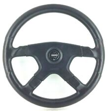 Genuine Momo Ghibli 4 spoke 380mm black leather steering wheel. M38 SUPERB! 7A