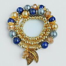 8mm Natural Lapis lapiz Beads Bracelet BPXM33