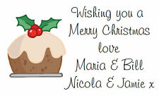 260 Personalised Labels / Address /Christmas Pudding stickers