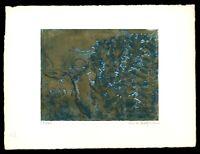Sina Hofmann: Abstrakte Komposition. Signierte Original-Farbradierung.