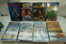 WALT DISNEY VHS MOVIES TAPES LOT 7 FACTORY SEALED HERCULES 20,000 LEAGUES d
