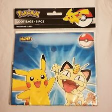 2014 Pokemon Party Favor Loot Bags 8 Pieces Per Package Pikachu and Meowth