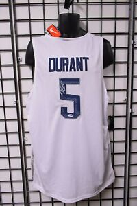 Kevin Durant Team USA Signed Jersey -- PSA/DNA COA