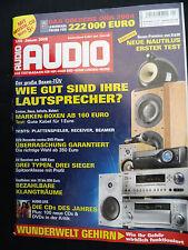 Audio 1/05 B & W Nautilus 802 D, MARANTZ TT 15 s1, Sanyo PLV Z 3, SONY DVP NS 955