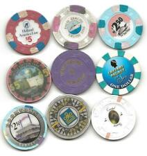 New Listing9 Casino Chip Assortment Of Wet, Cruise Line, Day Boat & Riverboats-Group Lot 3