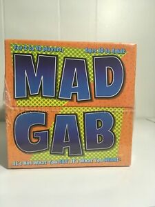 """Mattel """"Mad Gab"""" Adult Party Game 2 to 12 Players - New Factory Sealed"""