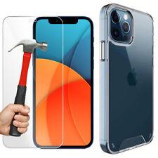 Coque pour iPhone 13 Pro Max 12 11,XR,X,XS,Max,8,7,6 + Verre trempé Protection