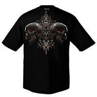 SKULL / ALCHEMY / FUN - Bronx Skull 2 - T-Shirt - Größe Size L - Neu - Totenkopf