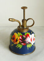 Canal ware. Small brass Water Sprayer, hand painted in enamels 13.5cm Tall