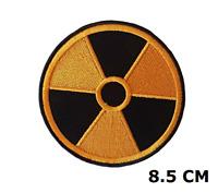 Radiación Nuclear Símbolo Parche Bordado Logo 8.5cm Pantalones Cortos Insignia