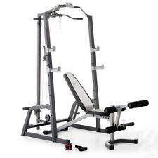 "Marcy Pro Deluxe Cage System And Lift Bench ""No Weights"""