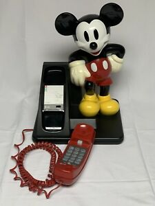 Vintage 1990's MICKEY MOUSE Corded Land Line Touch Tone Telephone AT&T Disney
