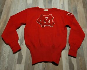 Vintage Imperial Official Award 60's Wool Mens Preppy Sweater Sweatshirt 46 L