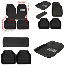 5 x Black Leather Car Front Rear Floor Mats Full Set Interior Carpet Accessories