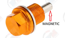 Anodized Blue Aluminum MAGNETIC Oil Drain Plug ADP561BLU 10 Seals for Subaru