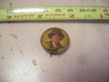 Vintage Amelia Earhart ? Women's Rights ? Billy the kid ? Button Pinback badge