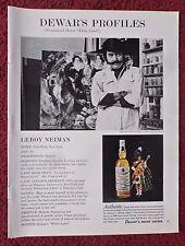 1970 Print Ad Dewar's Scotch Whiskey ~ LeRoy Neiman Artist Painter Profile