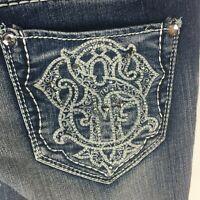Paisley Sky Women's Stretch Bootcut Medium Wash Jeans Sz 6 Embellished Pockets