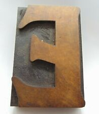Wood Letter E Letterpress Printer Cut Wood Type 2 34 X 4 18