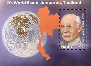 PALAU 20TH WORLD SCOUT JAMBOREE SOUVENIR SHEET THAILAND 2002 MNH SCOUTS STAMPS