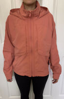 Lululemon Size 8 Always Effortless Jacket Coral RUSC Zip Up DWR Vents High Neck