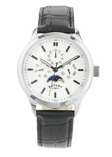 Rotary Men's Black Moonphase Chronograph Strap Watch. From Argos