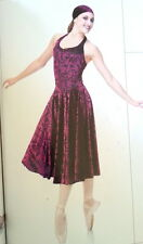 Lyrical Ballet Dance Dress Costume  Burnout Velvet Child Medium Last One!