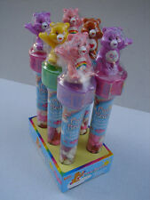 6 NEW 2003 RARE FLIX CARE BEAR CANDY AND STICKER DISPENSER W/STORE DISPLAY