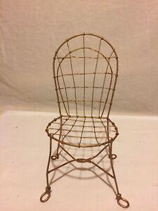 Cute Metal Miniature Chair - ORNATE DESIGN - SUPER CUTE