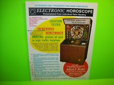 Electronic Horoscope Palm Reading Fortune Telling Machine FLYER Original Artwork
