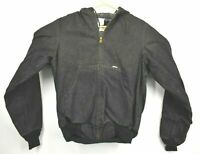 Vintage NOS Carhartt Mens Medium Tall JF895 Full Zip Black Flannel Lined Jacket