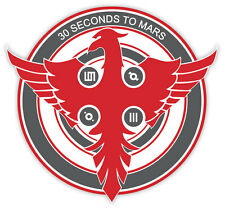 "30 seconds to Mars music sticker decal 4"" x 4"""