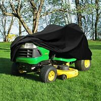 "Heavy Duty 420 Denier Riding Lawn Mower Cover - Fits Decks up to 54"" - Black"