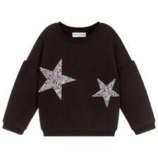 SONIA RYKIEL Girls PARIS Black Cotton 'Betty' Sweater 12 years