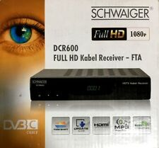 SCHWAIGER DCR600 DVB-C Full HD Cable Receiver HDTV Cable Cable Receiver 1080p