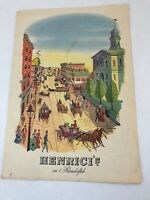 Henrici's on Randolph Dinner Menu & Drinks Menu Chicago Illinois August 26 1955