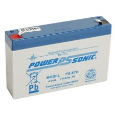 Power Sonic 6V 7AH (Leoch replacement) DJW6-7 DJW6-7.2 sealed lead acid Battery