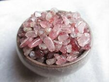 100g NATURAL STRAWBERRY QUARTZ CRYSTAL CHIP FREEDOM BODY GEM