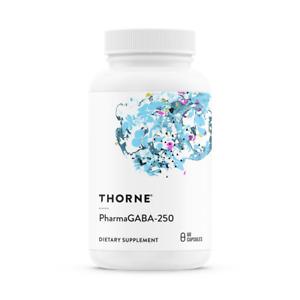 THORNE PharmaGABA-250 (Gamma-Aminobuttersäure GABA) 60 Kapseln, VERSAND WELTWEIT