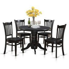 5 Piece Small Kitchen Table Set-Round Table And 4 Dining Chairs NEW