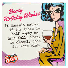 Pain in the Sass Boozy Birthday Wishes Birthday Card Funny Quirky Free Shipping