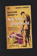 VINTACE CRIME PB.SIMENON.NEW YORK'S UNDERWORLD.MAGUIRE COVER ART.NICE COPY!