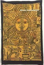 Tie-dye Wall Hanging Poster Tapestry Tantra Life Yellow Traditional Sun Hippie