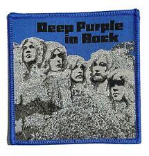 More details for deep purple - in rock - woven patch sew on rare aufnäher écusson parche blue
