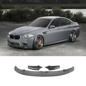For 2011-2016 BMW F10 5 Series M Sport Carbon Fiber Style Front Bumper Chin Lip